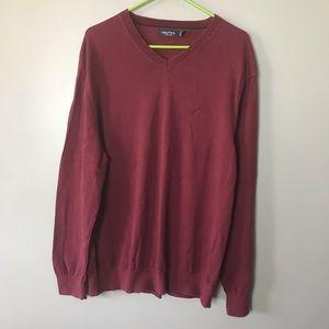 Nautica Men's Sweater XL Burgundy